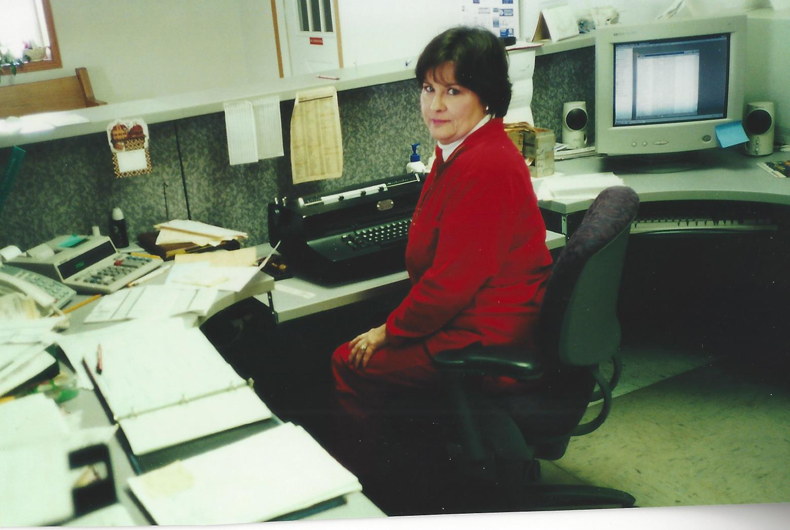 the office in the early days